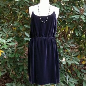 J.Crew Black Velvet Lined Dress sz 12